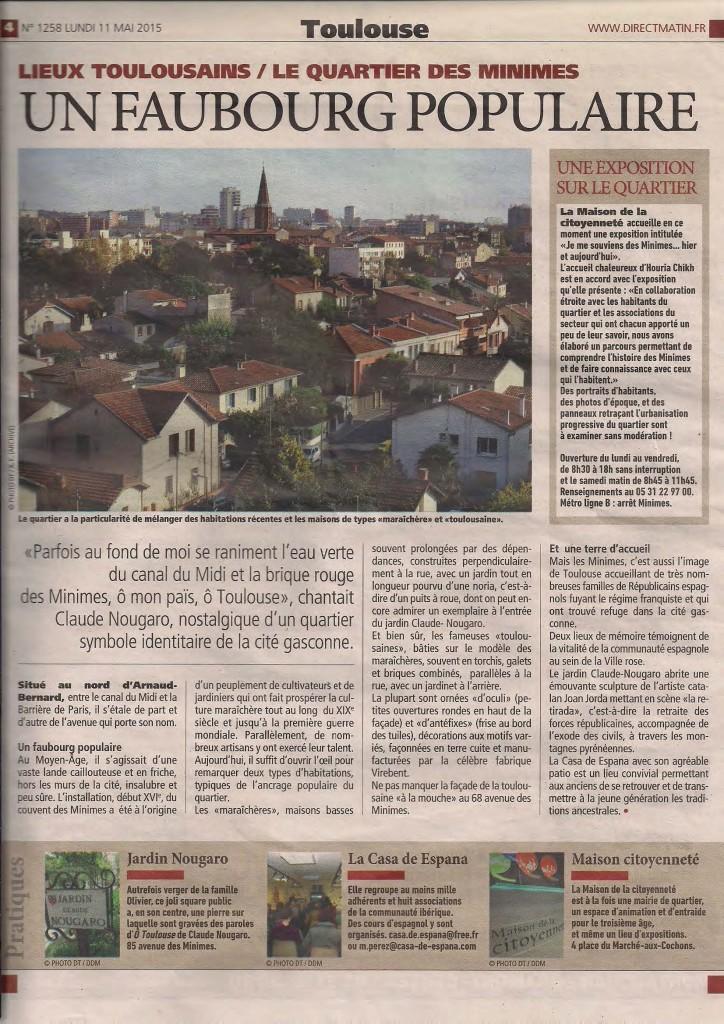 Article DirectMatin du 11-05-2015