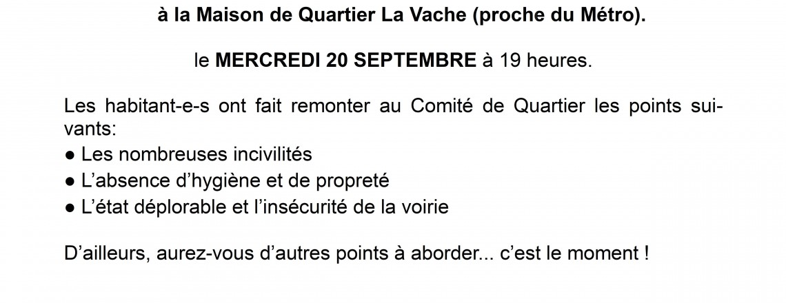 Rues MURATET-NUITTER / La VACHE