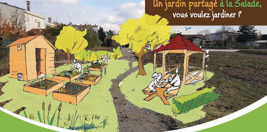 JARDINS PARTAGES SUR LE TERRAIN DE LA SALADE.