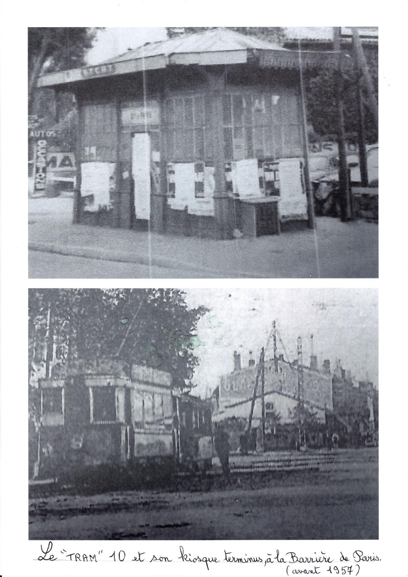 Tram 10 et son kiosque terminus Barrière de Paris_R2