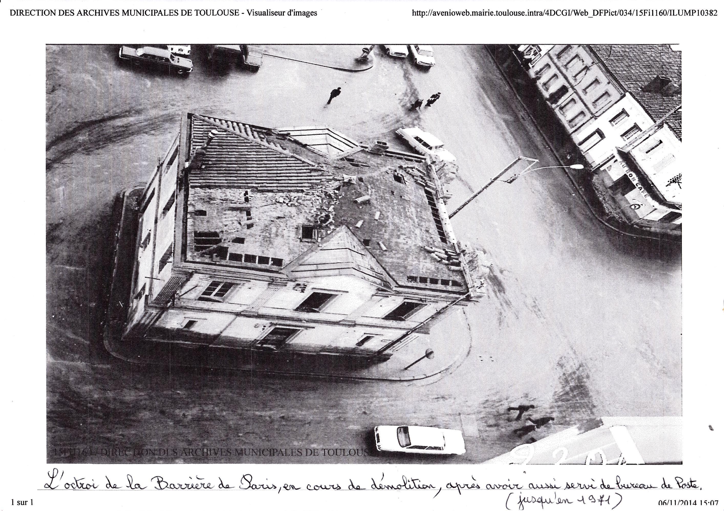 l'Octroi de la Barrière de Paris démolition 1971_R2