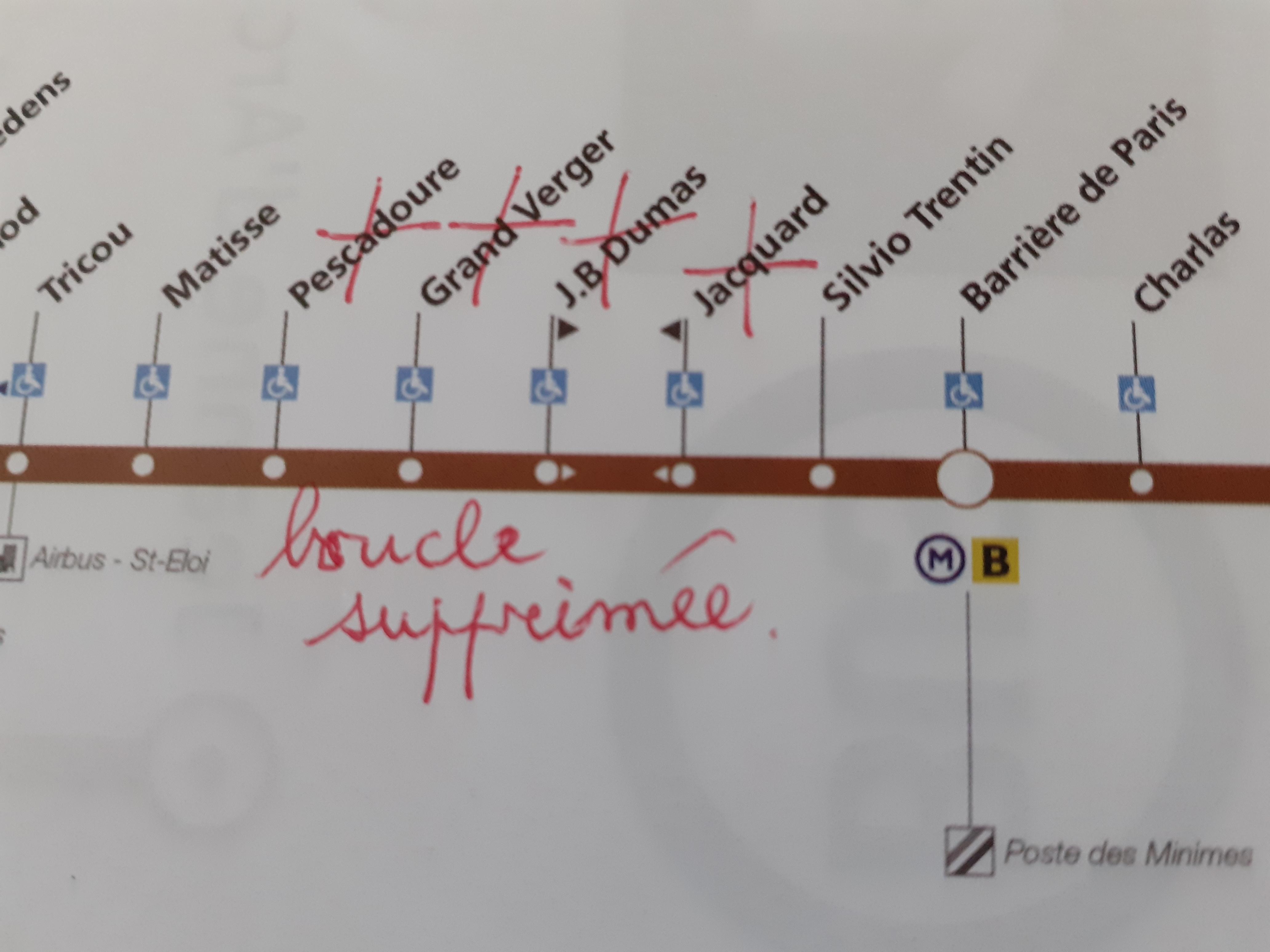 Ligne bus 15 trajet modifié