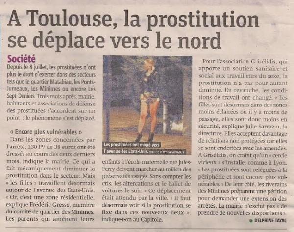 Article dans Metronews du 08/09/2014 Prostitution minimes barrière de Paris