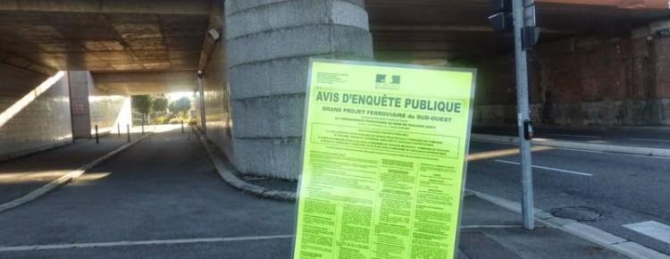Enquête d'utilité publique TESSO Toulouse