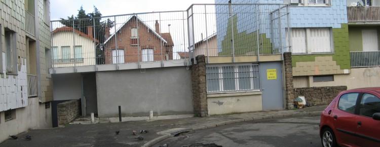 Un mur à la cité Negreneys Toulouse